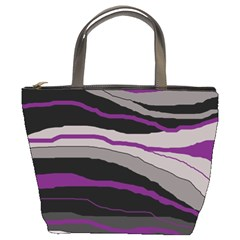 Purple and gray decorative design Bucket Bags