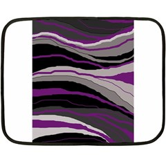 Purple and gray decorative design Double Sided Fleece Blanket (Mini)