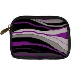 Purple and gray decorative design Digital Camera Cases