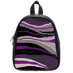 Purple and gray decorative design School Bags (Small)