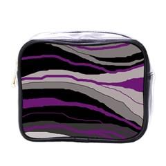 Purple and gray decorative design Mini Toiletries Bags