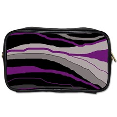 Purple and gray decorative design Toiletries Bags 2-Side