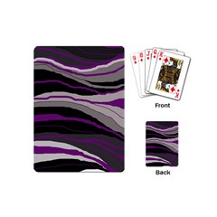 Purple and gray decorative design Playing Cards (Mini)