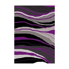 Purple and gray decorative design Shower Curtain 48  x 72  (Small)
