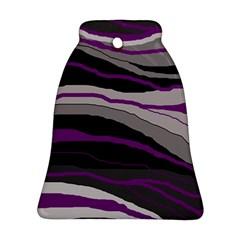 Purple and gray decorative design Ornament (Bell)