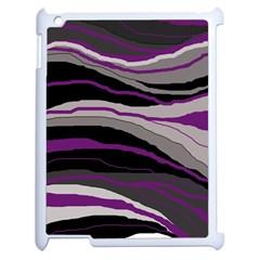 Purple and gray decorative design Apple iPad 2 Case (White)