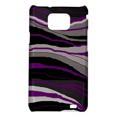 Purple and gray decorative design Samsung Galaxy S2 i9100 Hardshell Case