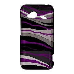 Purple and gray decorative design HTC Droid Incredible 4G LTE Hardshell Case