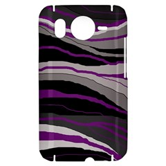 Purple and gray decorative design HTC Desire HD Hardshell Case