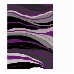 Purple and gray decorative design Large Garden Flag (Two Sides)