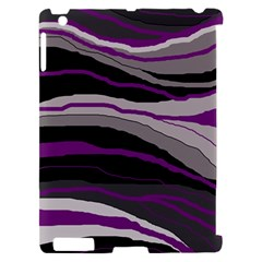 Purple and gray decorative design Apple iPad 2 Hardshell Case (Compatible with Smart Cover)