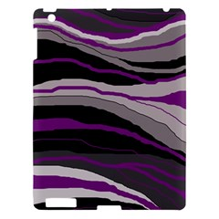 Purple and gray decorative design Apple iPad 3/4 Hardshell Case