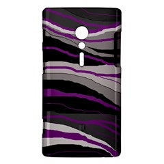 Purple and gray decorative design Sony Xperia ion