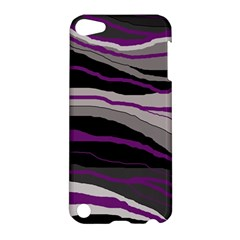 Purple and gray decorative design Apple iPod Touch 5 Hardshell Case