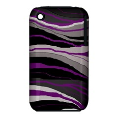 Purple and gray decorative design Apple iPhone 3G/3GS Hardshell Case (PC+Silicone)