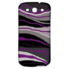 Purple and gray decorative design Samsung Galaxy S3 S III Classic Hardshell Back Case