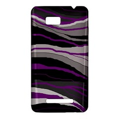Purple and gray decorative design HTC One SU T528W Hardshell Case
