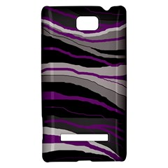 Purple and gray decorative design HTC 8S Hardshell Case