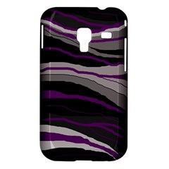 Purple and gray decorative design Samsung Galaxy Ace Plus S7500 Hardshell Case