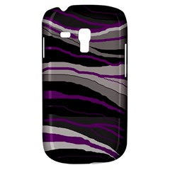 Purple and gray decorative design Samsung Galaxy S3 MINI I8190 Hardshell Case