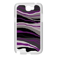 Purple and gray decorative design Samsung Galaxy Note 2 Case (White)