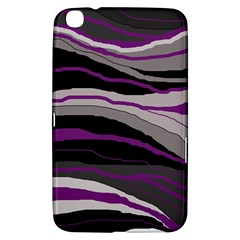 Purple and gray decorative design Samsung Galaxy Tab 3 (8 ) T3100 Hardshell Case