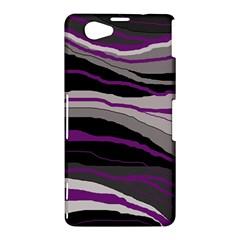 Purple and gray decorative design Sony Xperia Z1 Compact