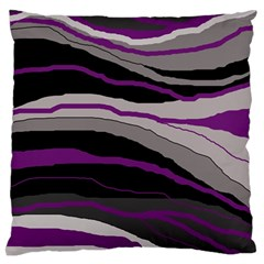 Purple and gray decorative design Standard Flano Cushion Case (Two Sides)