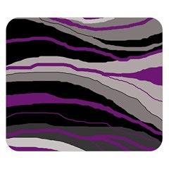 Purple and gray decorative design Double Sided Flano Blanket (Small)