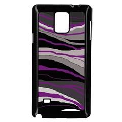 Purple and gray decorative design Samsung Galaxy Note 4 Case (Black)