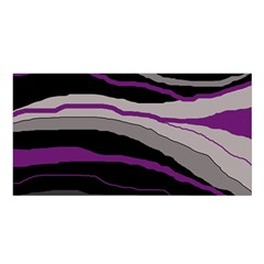 Purple and gray decorative design Satin Shawl