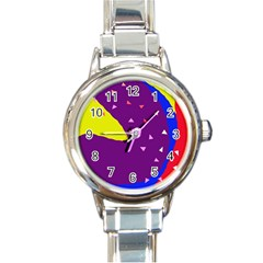 Optimistic abstraction Round Italian Charm Watch