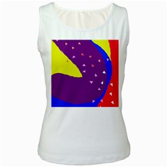 Optimistic abstraction Women s White Tank Top