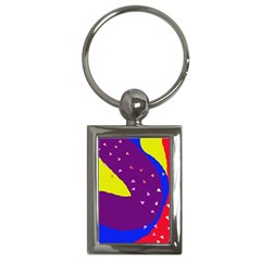 Optimistic abstraction Key Chains (Rectangle)