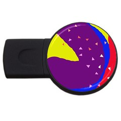 Optimistic abstraction USB Flash Drive Round (1 GB)