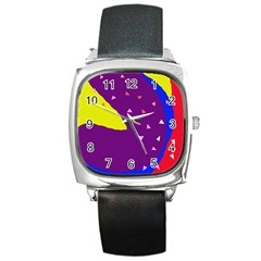 Optimistic abstraction Square Metal Watch