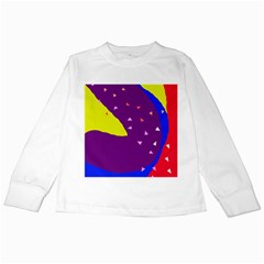 Optimistic abstraction Kids Long Sleeve T-Shirts