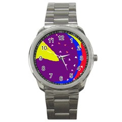 Optimistic abstraction Sport Metal Watch