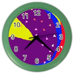 Optimistic abstraction Color Wall Clocks
