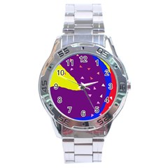 Optimistic abstraction Stainless Steel Analogue Watch