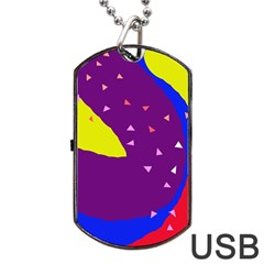 Optimistic abstraction Dog Tag USB Flash (Two Sides)