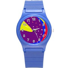 Optimistic abstraction Round Plastic Sport Watch (S)