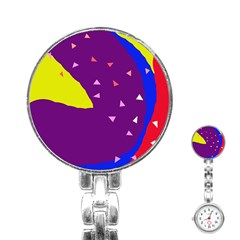Optimistic abstraction Stainless Steel Nurses Watch
