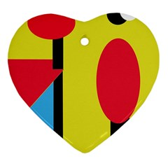 Abstract landscape Ornament (Heart)