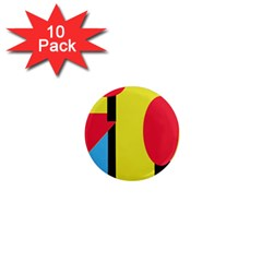 Abstract landscape 1  Mini Magnet (10 pack)
