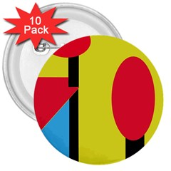 Abstract landscape 3  Buttons (10 pack)