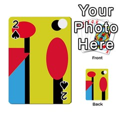 Abstract landscape Playing Cards 54 Designs