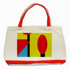 Abstract Landscape Classic Tote Bag (red)