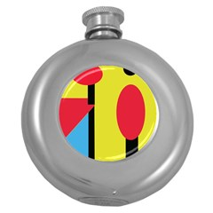 Abstract landscape Round Hip Flask (5 oz)