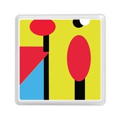 Abstract landscape Memory Card Reader (Square)